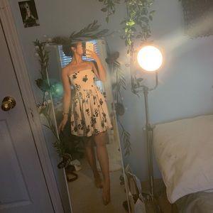 Black Rose Strapless Dress